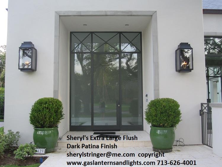 Exterior Gas Lanterns Bronze Outdoor Wall Mounted