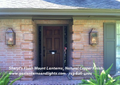 Sheryl's Flush Mount Gas Lantern with Natural Copper Finish