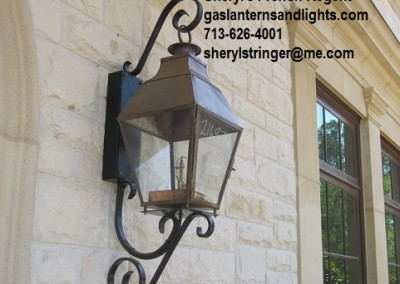 Sheryl's French Regent Gas Lantern on Steel Bracket