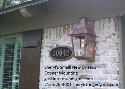 Sheryl's Small New Orleans Style Gas Lantern with Solid Top