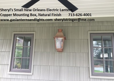 Sheryl's Small New Orleans Style Lantern with Electric Candelabra Bulb Base