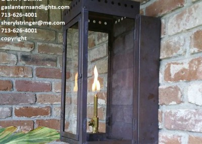 Small Ultra Gas Lantern Dark Patina Finish