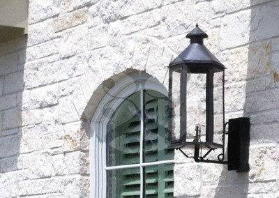 Sheryl's Style 4 Natural Gas Lantern with Steel Wall Bracket and Dark Patina Finish