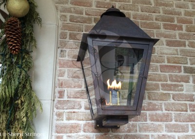 Sheryl's Extra Large Style 1 Gas Lantern with Copper Box Mounting