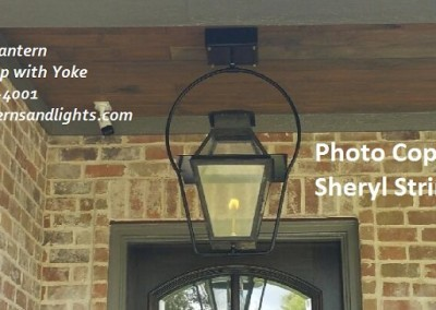 Sheryl's V Style Yoke Gas Lantern with Glass Top