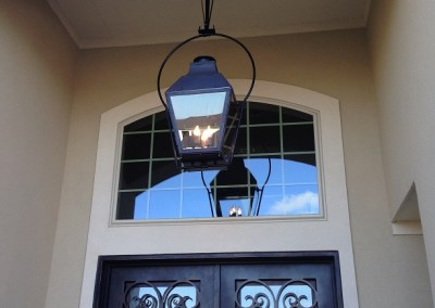 Sheryl's Extra Large French Gas Lantern Hanging  by a Yoke