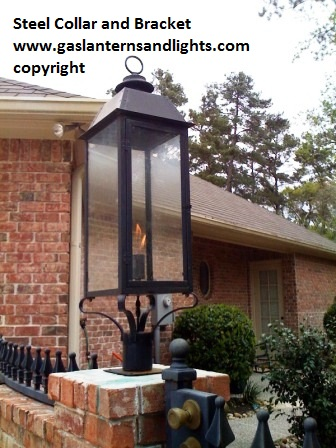 Sheryl's Medium Size Style 3 Lantern with Steel Claw Column Mount Bracket