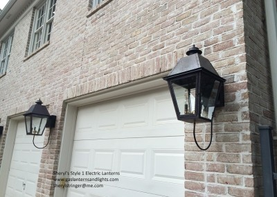 Sheryl's Style 1 Electric Lanterns with Steel Brackets