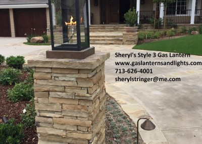 Sheryl's Style 3 Gas Lantern with Copper Column Box