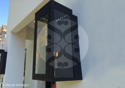 Ultra Gas Sconce Black Finish