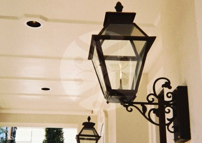 Sheryl's V Style Lantern,Glass Top, Black Finish, Black Steel Bracket The Woodlands, TX
