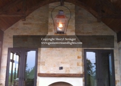 Sheryl's Extra Large French Lantern Hanging by a Yoke