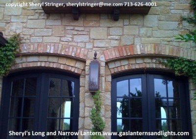 Sheryl's Long and Narrow Electric Lantern with Natural Copper Finish